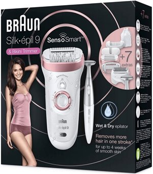 Braun Epilierer & Ladyshaver - Silk-epil 9 9-890 SkinSpa SensoSmart