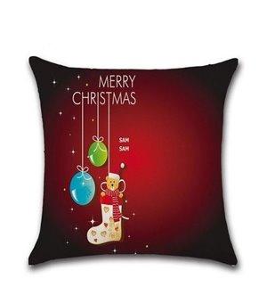 """Kissenbezug Frohe Weihnachten """"Baumkugeln"""""""