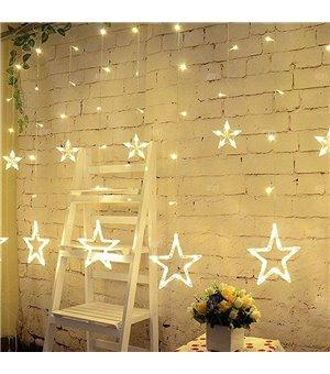 LED Sternenvorhang Deko Farbe Warmweiß