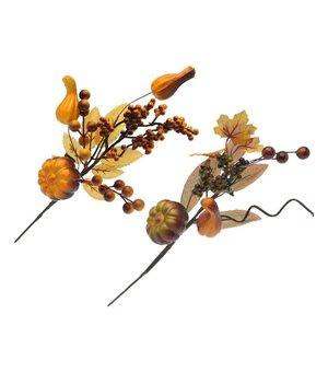 Dekorative Blume Autum Gelb Braun 110039