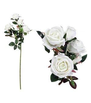Zweig mit 5 Rosen 113021 Weiß (60 Cm)