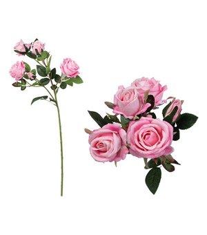 Zweig mit 5 Rosen 113014 Rosa (60 Cm)