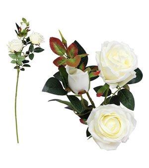 Zweig mit 3 Rosen 113250 Weiß (60 Cm)