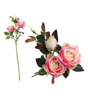 Zweig mit 5 Rosen Rosa...