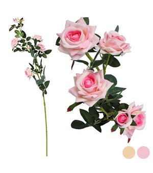 Zweig mit 5 Rosen 113045 (85 cm)