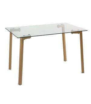 Schreibtisch (120 x 75 x 80 cm) Verre trempé Stahl