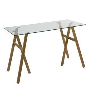 Schreibtisch (120 x 60 x 75 cm) Verre trempé Eisen