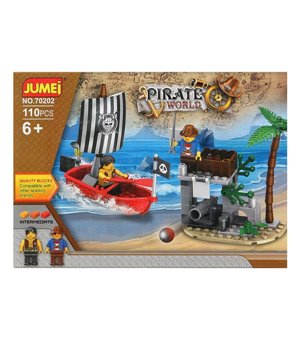 Baukasten mit Blöcken Pirate World 119610 (110 pcs)