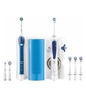 Elektrische Zahnbürste + Munddusche Oral-B OC501 Weiß Blau