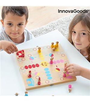 Brettspiel aus Holz mit Tieren Pake InnovaGoods 18 Stücke