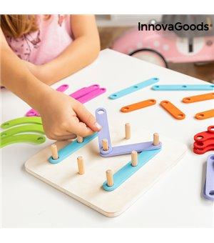 Holzspielzeug zum Zusammenbauen von Buchstaben und Zahlen Koogame InnovaGoods 27 Stücke