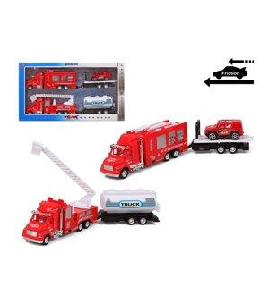 Fahrzeuge-Set Feuerwehrauto Rot 119244 (2 Uds)