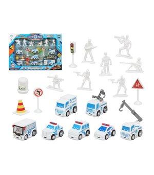 Set Polizei Fahrzeuge und Zubehör Weiß 111155