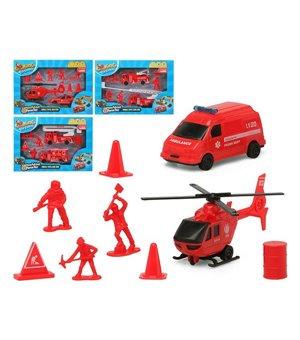 Spielset Fahrzeuge Rot 119350