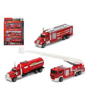 Fahrzeuge-Set Feuerwehrmann Rot 110899 (3 Pcs)