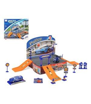 Rennbahn mit Rampen Police 113531 Blau