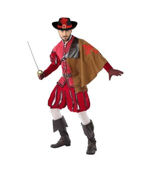 Verkleidung für Erwachsene 113817 Musketier Rot (3 Pcs)