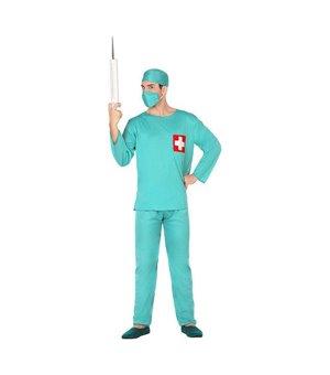 Verkleidung für Erwachsene 117180 Arzt Grün (3 Pcs)
