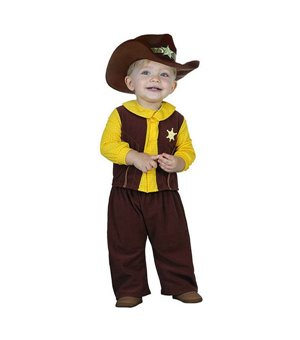Verkleidung für Babys Cowboy 113244 Braun Gelb (2 Pcs)