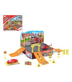 Rennbahn mit Rampen City Truck