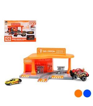 Spielset Fahrzeuge Racing Gas Station