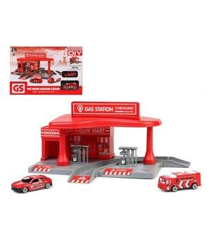 Spielset Fahrzeuge Gas Station 112121 Rot