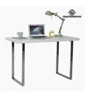 Schreibtisch (120 x 60 x 76 cm) Verchromter stahl Weiß