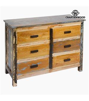 Kommode Holz (110 x 45 x 81 cm) - Vintage Kollektion by Craftenwood