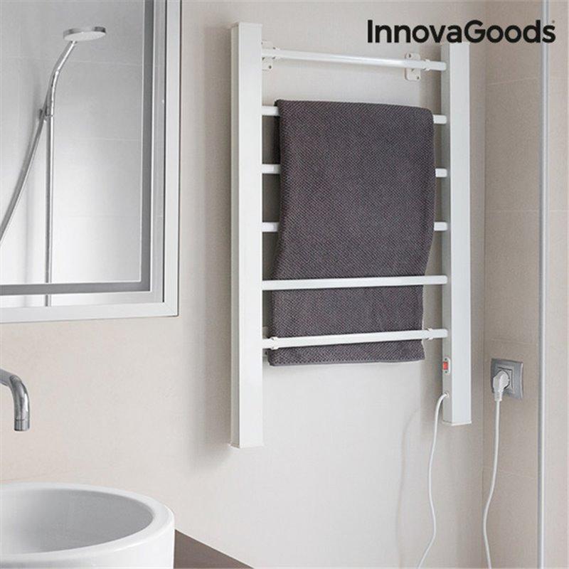 InnovaGoods Elektrischer Handtuchhalter 90W Weiß (6 Heizstäbe)