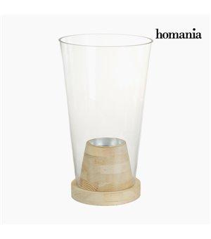Vase Glas Holz - Pure Crystal Deco Kollektion by Homania