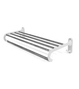 Aufhängbarer Handtuchhalter Confortime Weiß Rostfreier stahl (22,5 x 22,5 x 11,5 cm)