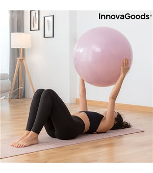 Yoga-Ball mit Stabilitätsring und Widerstandsbändern Ashtanball InnovaGoods