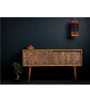 Konsole (160 x 35 x 85 cm) Mango-holz - Poetic Kollektion