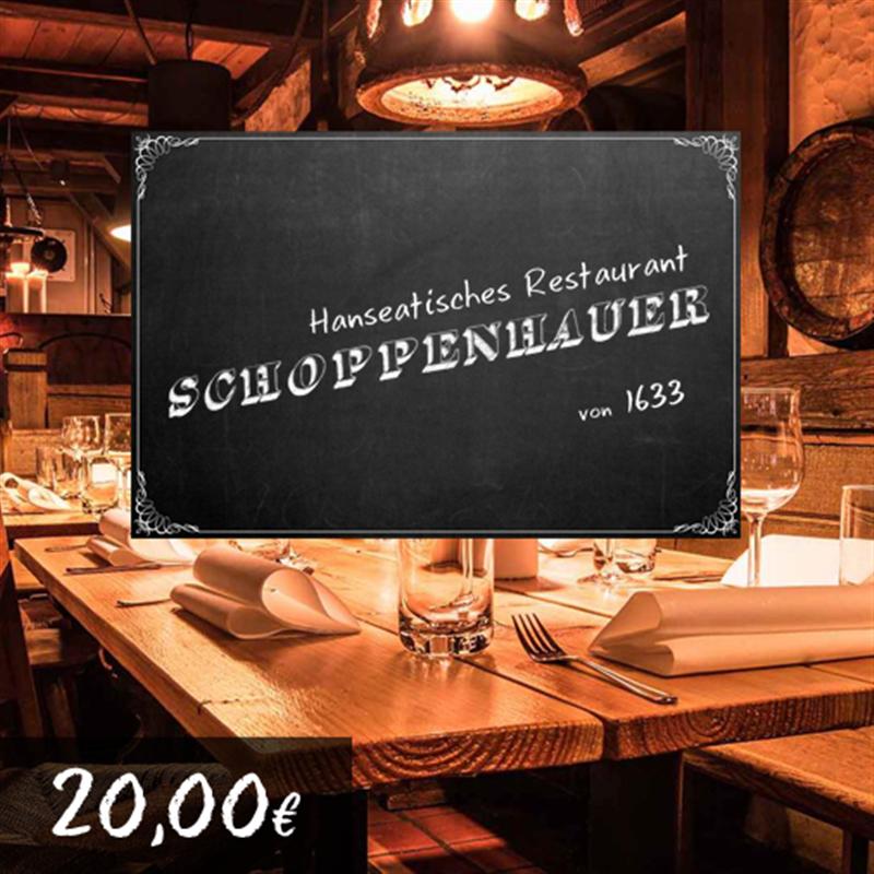 20€ Restaurant Schoppenhauer Gutschein für 18€
