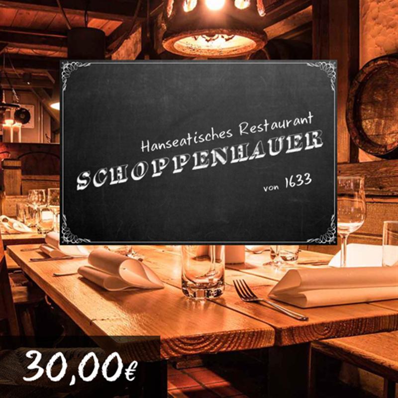 30€ Restaurant Schoppenhauer Gutschein für 27€