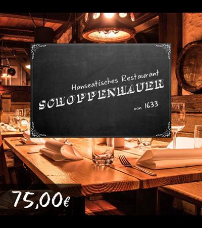 75€ Restaurant Schoppenhauer Gutschein für 67,50€