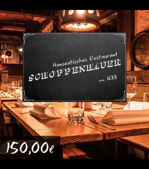 150€ Restaurant Schoppenhauer Gutschein für 135€