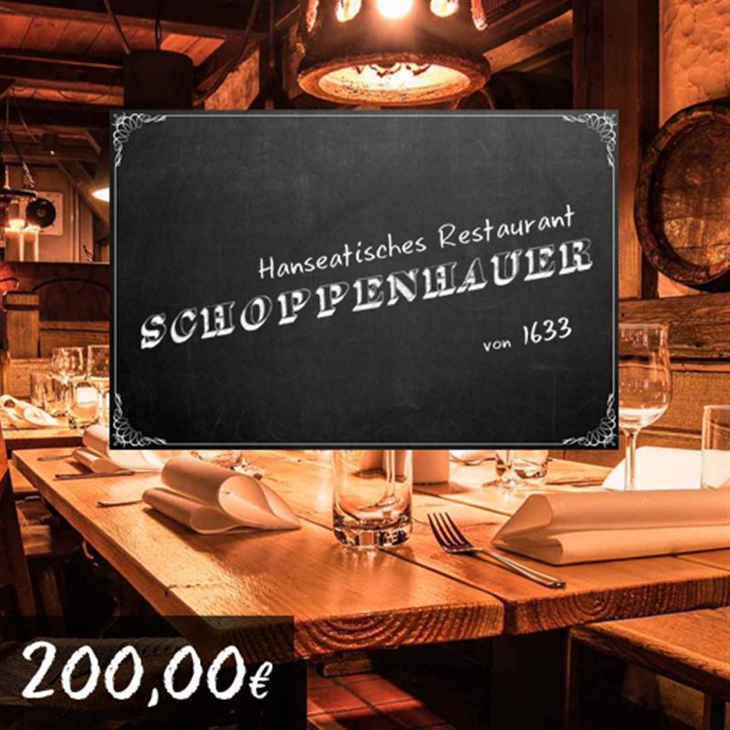 200€ Restaurant Schoppenhauer Gutschein für 180€