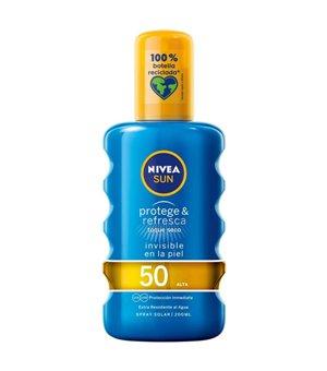 Sonnenschutzspray Protege & Refresca Nivea Spf 50 (200 ml)