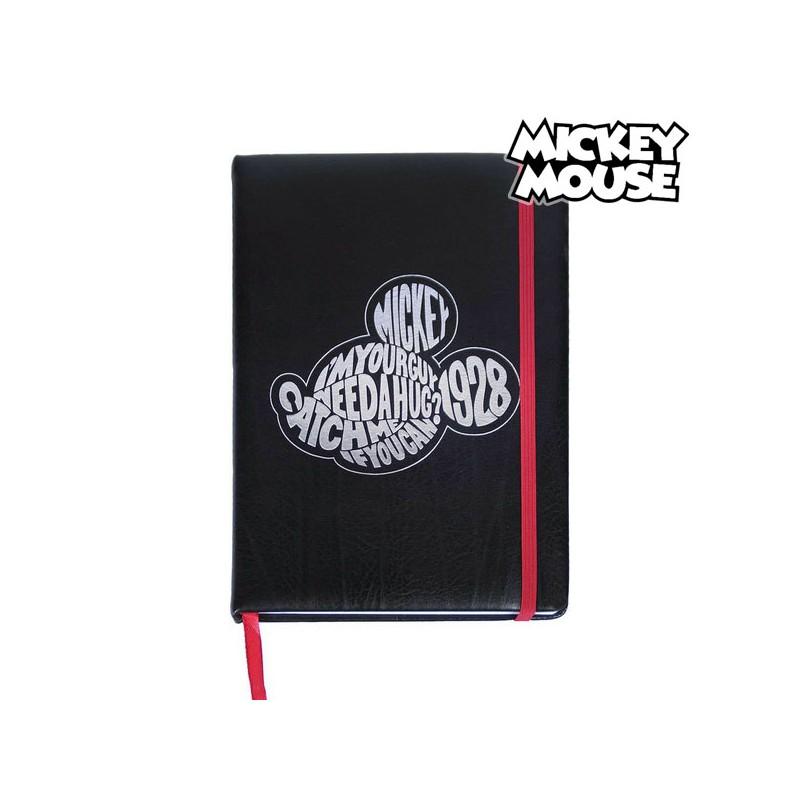 Notizbuch mit Lesezeichen Mickey Mouse A5 Schwarz