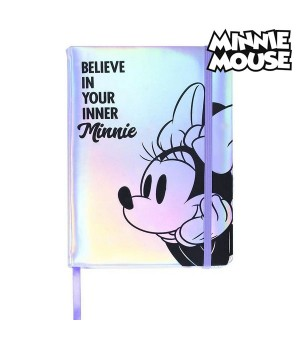 Notizbuch mit Lesezeichen Minnie Mouse A5 Lila