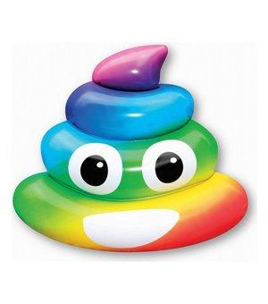 Luftmatratze Rainbow Poo (107 x 121 x 26  cm)