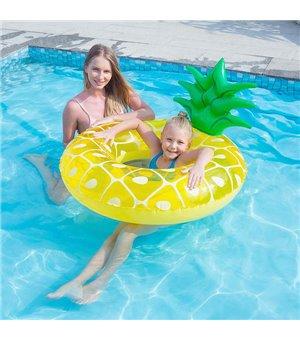 Aufblasbare Schwimmhilfe Ananas (ø 94 x 63 cm)