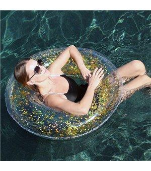 Aufblasbare Schwimmhilfe Gold Glitter (Ø 91 cm)