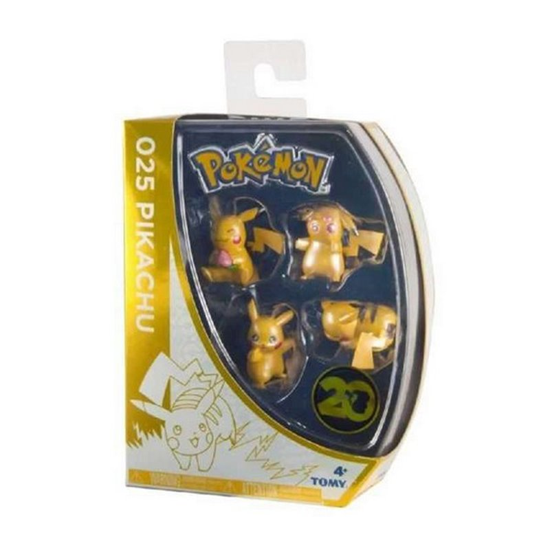 Figurensatz Pokemon Pikachu 20th Anniversary Bizak (4 pcs)