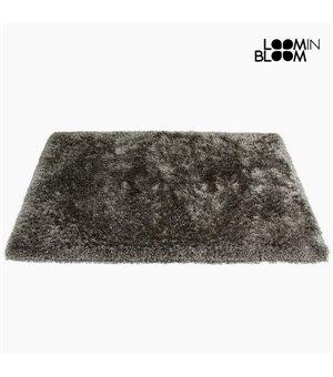Teppich (170 x 240 x 8 cm) Polyester Seide Grau