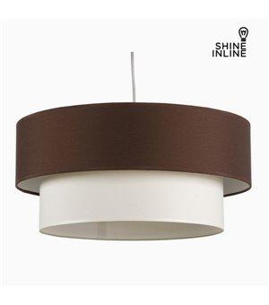 Deckenlampe Braun Weiß Baumwolle und polyester (20 cm) by Shine Inline