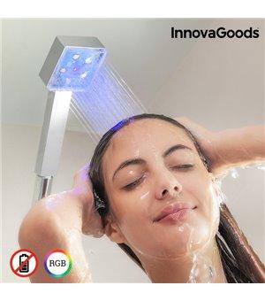 InnovaGoods LED Ökoduschkopf mit Square Temperatursensor