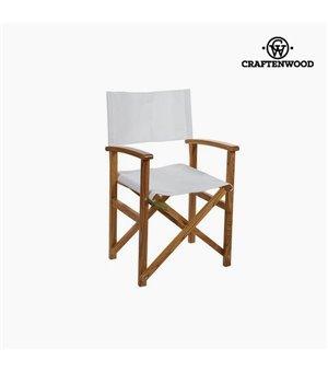 Stuhl Niembaumholz Weiß (86 x 55 x 52 cm) by Craftenwood