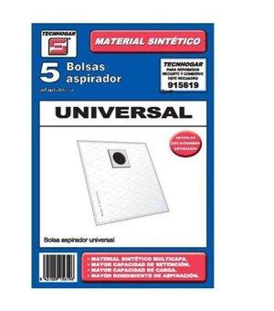 Universal-Ersatzbeutel für Staubsauger Tecnhogar 915619 (5 uds)